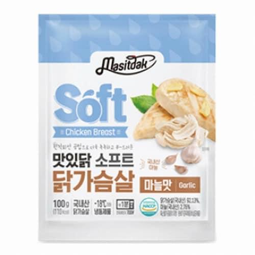 푸드나무 맛있닭 소프트 닭가슴살 마늘맛 100g (3개)_이미지