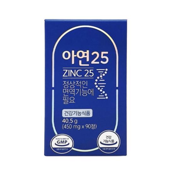 그린스토어 아연 25 90정(1개)