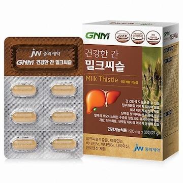 지엔엠라이프 GNM자연의품격 건강한 간 밀크씨슬 30정(6개)