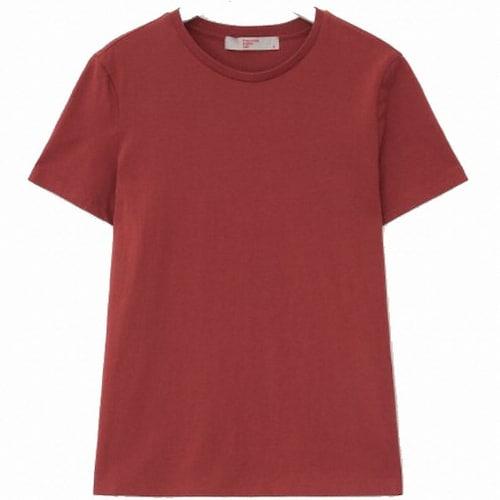 삼성물산 에잇세컨즈 레드 베이직 데일리 티셔츠 358742CY16_이미지