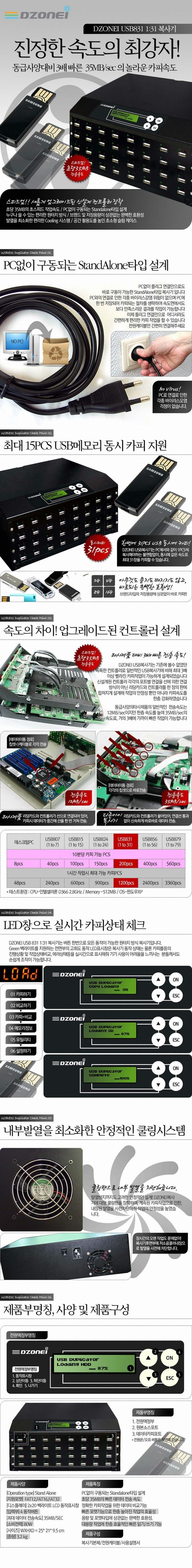 디지털존 DZONEI USB831 1:31 복사기
