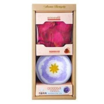 홈즈코리아 라벤더 버블볼+장미 입욕 꽃잎 2종 세트_이미지