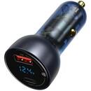 차량용 QC+PPS 65W 메탈 듀얼 고속 시가잭 충전기 VCKX65C