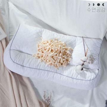 수면공감  우유베개 플러스 기능성 경추베개 (1개, 67x37cm)