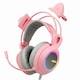 앱코 HACKER B771 핑크 가상 7.1채널 RGB 진동 게이밍 헤드셋_이미지
