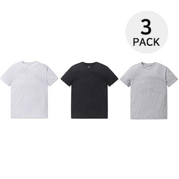 폴햄 남여공용 3PACK 반팔 티셔츠 PHY5TR1900