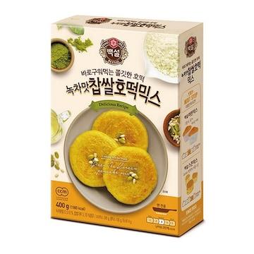 CJ제일제당 백설 녹차맛 찹쌀 호떡믹스 400g (1개)