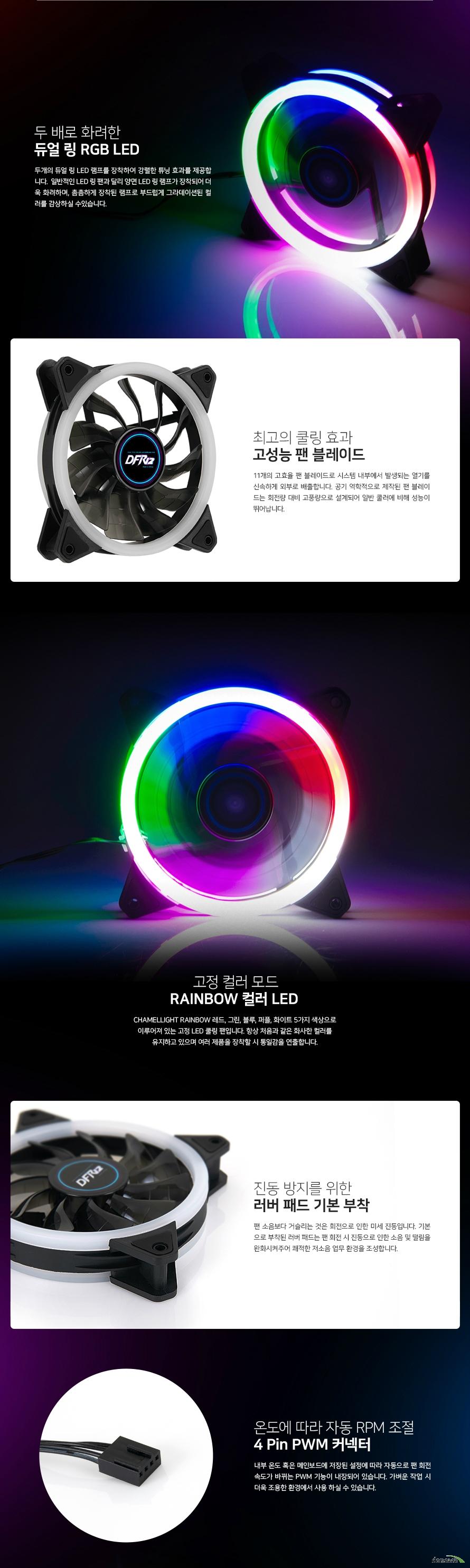 대양케이스 CHAMELLIGHT RAINBOW PWM 120 듀얼링