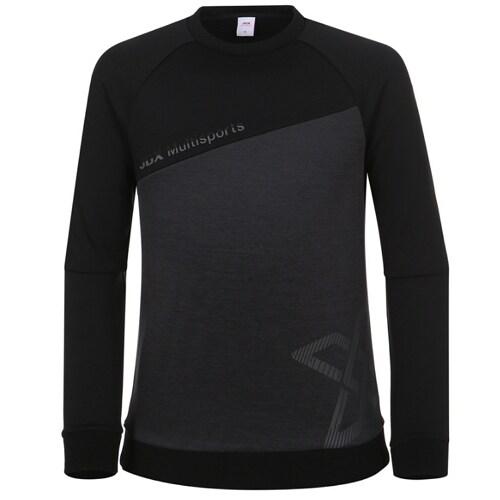 JDX골프  사선 맨투맨 티셔츠 X3PWTLM01BK_이미지