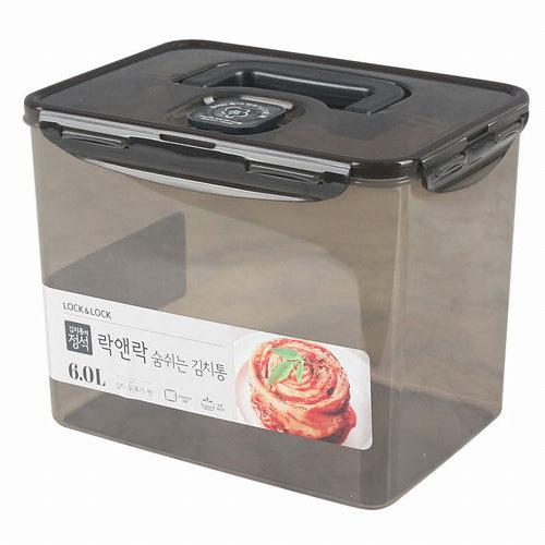 락앤락 숨쉬는 김치통 그레이 6L (HPL827DB)(1개)