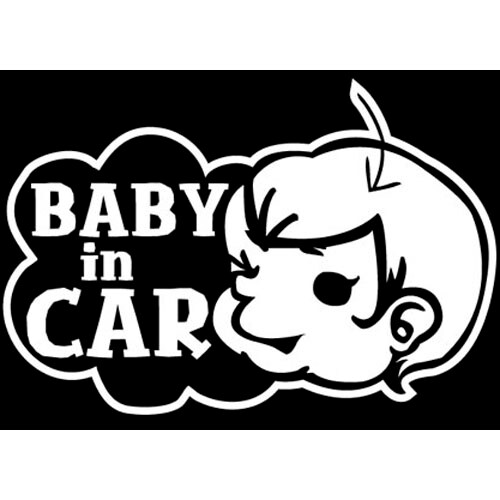 THE ANSWER  BC03 BABY IN CAR 스티커 (한, 영 선택)_이미지