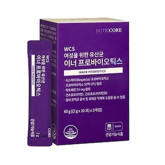 뉴트리코어 여성을 위한 유산균 이너 프로바이오틱스 30포 (1개)_이미지