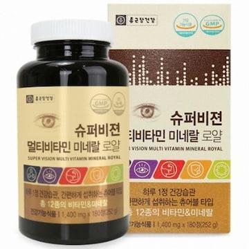 종근당건강 슈퍼비젼 멀티비타민 미네랄 로얄 180정(1개)