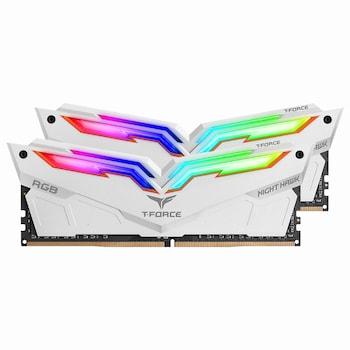 TeamGroup T-Force DDR4 32G PC4-25600 CL16 Night Hawk RGB 화이트 (16Gx2)