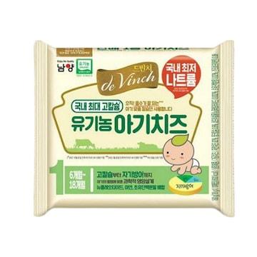남양유업 드빈치 유기농 시작부터 아기치즈 1단계 180g (1개)