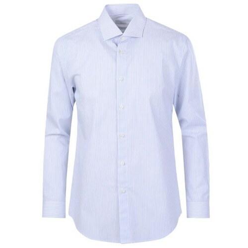 신성통상 지오지아 핀 스트라이프 드레스 셔츠 ABY2WD1102BL_이미지