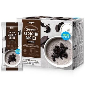 지엔엠라이프 GNM자연의품격 진짜 맛있는 다이어트 쉐이크 쿠키앤크림 25g 14포 (1개)