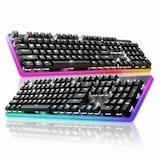 [ABKO] HACKER K701 카일광축 완전방수 4면 RGB LED (블랙, 클릭)