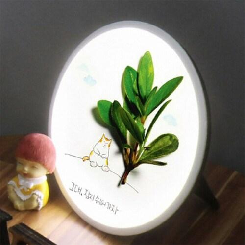 꾸밈 LED 잠시쉬자용 액자 무드등 25cm_이미지