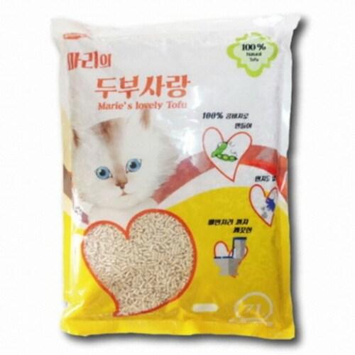 마리 두부사랑 고양이 모래 오리지날 7L (1개)_이미지