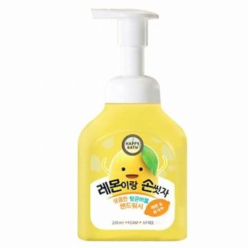 해피바스 레몬이랑 손씻자 버블 핸드워시 250ml (1개)_이미지
