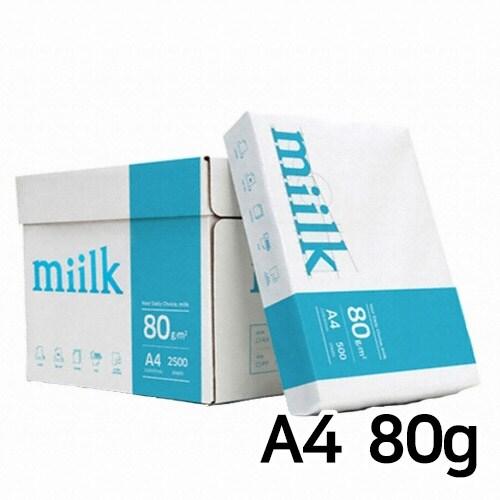 한국제지 밀크 복사용지 A4 80g(5팩, 2500매)