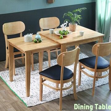 베스트리빙  확장 원목 버터 식탁세트 (의자4개)