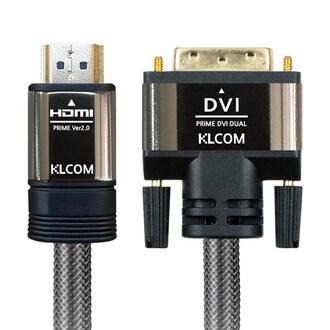 케이엘시스템 KLcom PRIME 고급형 HDMI 2.0 to DVI 케이블 (KL43, 2m)_이미지
