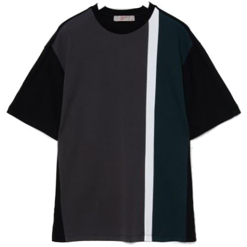 에잇세컨즈 남성 애쉬 40수 코튼 포인트 배색 반소매 티셔츠 429742AY34_이미지