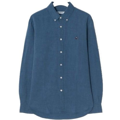빈폴 남성 블루 리넨 블렌드 인디고 셔츠 BC9264C70P_이미지