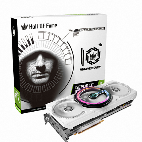 갤럭시 GALAX 지포스 RTX 2080 SUPER Hall Of Fame D6 8GB 10th Anniversary Edition