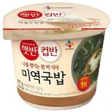 CJ제일제당 햇반 컵반 미역국밥 167g  (18개)