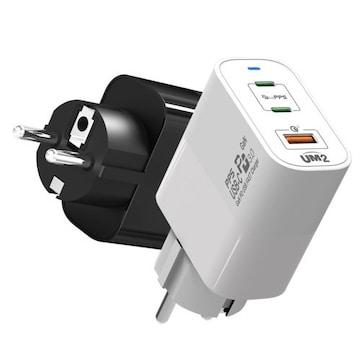 아임커머스 UM2 USB-PD PPS/QC4+ 65W 3포트 GAN 접지형 충전기 79PDGAN