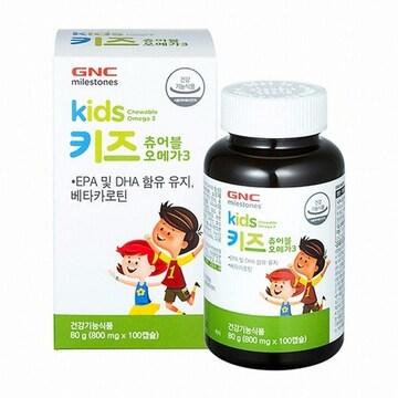 지엔씨  키즈 츄어블 오메가3 100캡슐 (1개)
