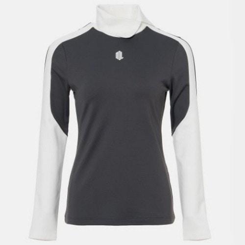 빈폴골프 여성 배색 슬릿 하이넥 티셔츠 BJ9941L49D_이미지