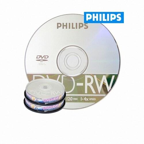 필립스 DVD-RW 4.7GB 4x 케익 20장_이미지