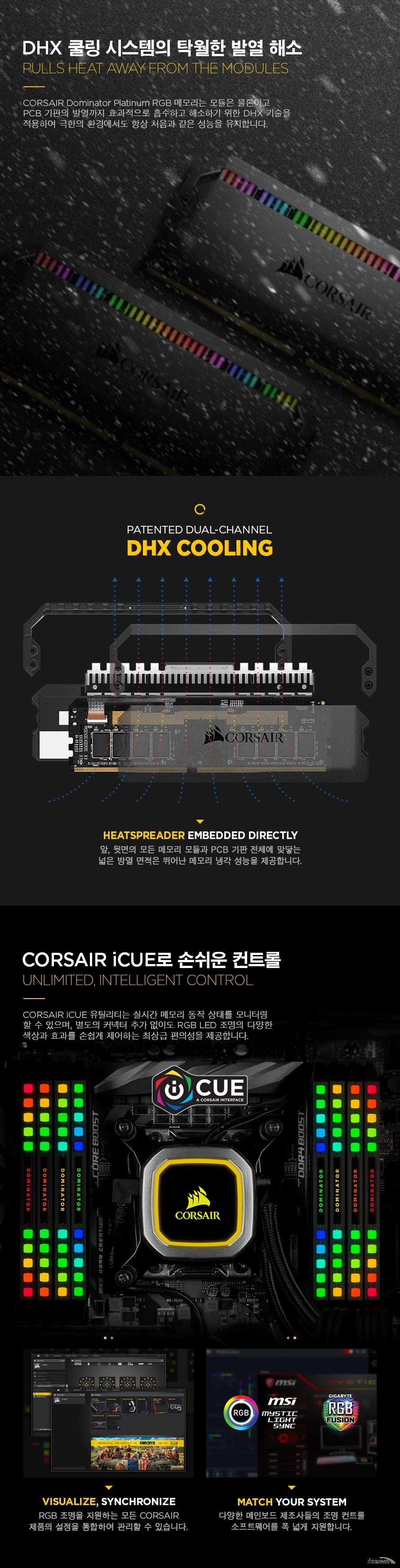 CORSAIR  DDR4 32G PC4-28800 CL18 Dominator Platinum RGB (8Gx4)