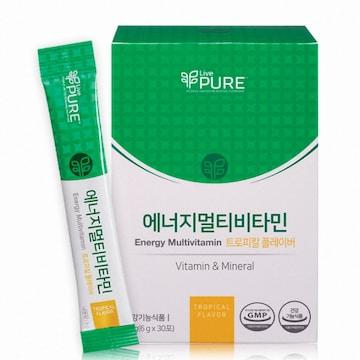 리브퓨어 에너지 멀티비타민 열대과일맛 6g 30포 (1개)_이미지