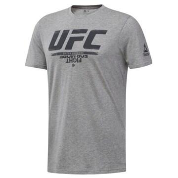 리복  UFC 팬기어 로고 티셔츠 DU4583