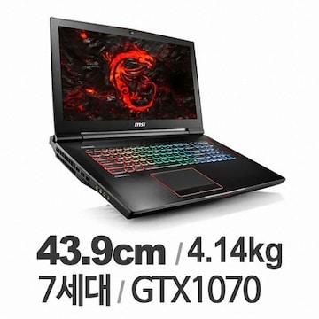 (GTX1070+16GB) MSI GT73EVR 7RE Titan