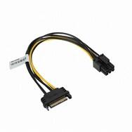 강원전자 NETmate SATA 15핀 to PCIe 6핀 전원 케이블 (NMP-SV6P) (0.2m)