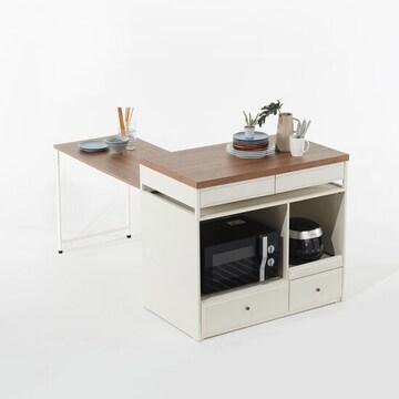 리센트  파스타 확장형 렌지대 아일랜드식탁 (의자별도)
