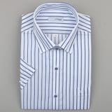 에스티듀퐁  히든스넵 스트라이프 반소매 비지니스 셔츠 SD8MM11HS117SBU_이미지