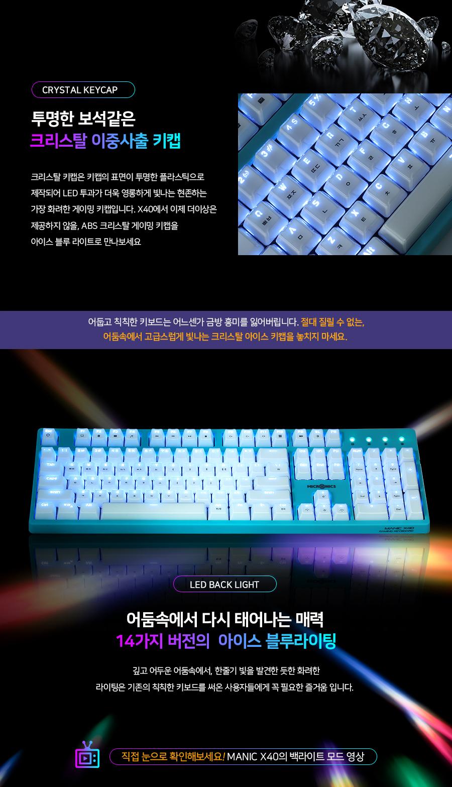 마이크로닉스 MANIC X40 크리스탈 4세대 광축