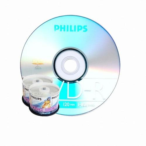필립스 DVD-R 4.7GB 16x 케익 100장 (50*2)_이미지