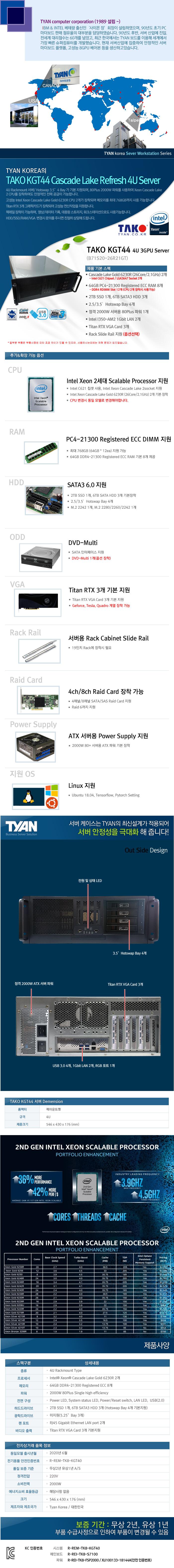 TYAN TAKO-KGT44-(B71S20-26R21GT) 3GPU (512GB, SSD 2TB + 18TB)