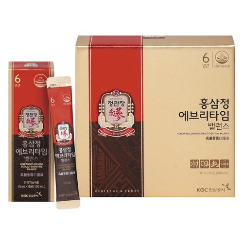 한국인삼공사 정관장 홍삼정 에브리타임 밸런스 10ml 30포(1개)