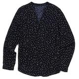 더베이직하우스 베이직하우스 여성 레이온패턴 셔츠형 블라우스 HRBL3207_이미지