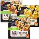 노엣지 꽉찬 토핑 피자 베이컨 파이브치즈 376g+직화 불고기 387g+페퍼로니 콤비네이션 388g