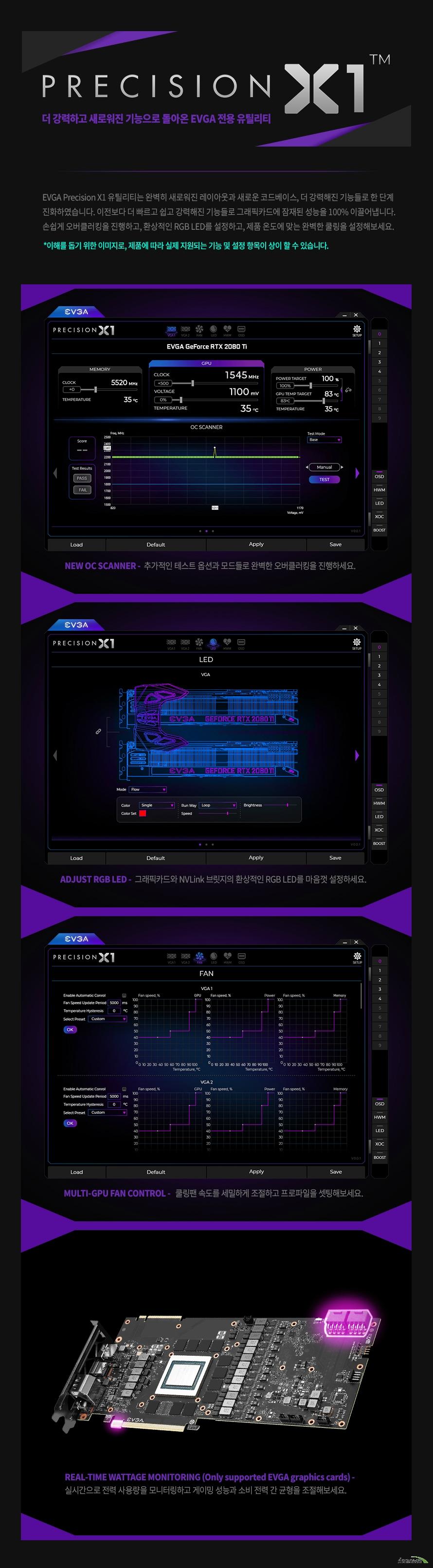 EVGA  지포스 RTX 2080 Ti FTW3 ULTRA HYBRID GAMING D6 11GB